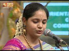 Singers Vinaya and Saindhavi are singing Lingastakam in Chennaiyil Thiruvaiyaru Singers, Singer