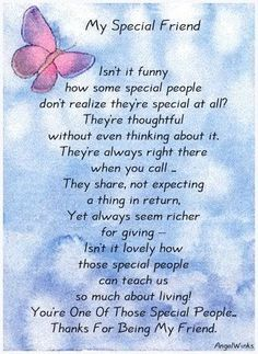 Ideas Birthday Quotes For Best Friend Friendship Poems Words For 2019 Special Friend Quotes, Best Friend Poems, Sister Quotes, Bff Quotes, Special Friends, Special People, Angel Quotes, Poems About Best Friends, Funny Quotes