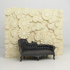 Декоративная фотозона Ruffled Pinwheel Creamy Shade