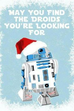 Star Wars R2-D2 Christmas card | Droids you're looking for