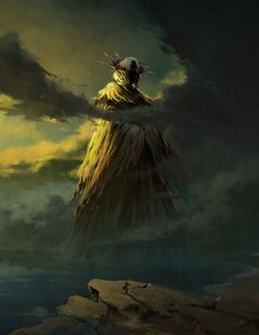 ArtStation - The King in Yellow, Aria Wang Fantasy Rpg, Dark Fantasy Art, Medieval Fantasy, Dark Art, Arte Horror, Horror Art, Necronomicon Lovecraft, Call Of Cthulhu Rpg, Lovecraftian Horror