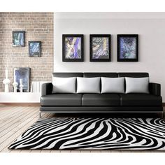Network Zebra Deluxe Rug & Reviews | Temple & Webster
