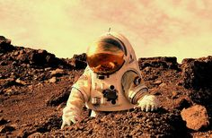 Astronaut working on Mars - Human mission to Mars - Wikipedia