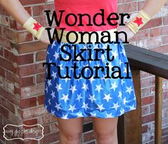 Wonder Woman Skirt Tutorial