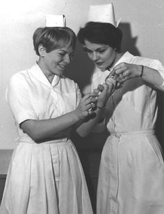 Nurses in the 1960s... much cooler uniforms back then. :)
