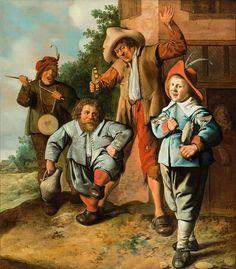 Jan Miense Molenaer (1610-1668): juvenile musicians and a dancing dwarf, around 1630-1635 , SØR Rusche Collection Oelde / Berlin, photo © SØR Rusche Collection Oelde / Berlin