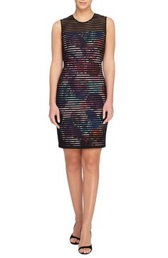 Catherine Catherine Malandrino 'Romo' Banded Floral Sheath Dress available at #Nordstrom