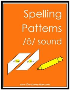 Spelling list, activities, test, and answer key for the spelling pattern AW/AU (words like crawl and pause)