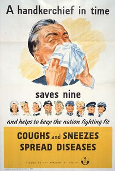 Oh dear ...Everybody in this household is sick. Running noses & coughs.