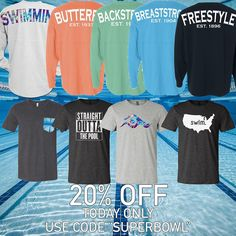 """Offering 20% off during the super bowl on the entire store.  Use code """"SUPERBOWL"""" at checkout"""