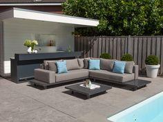 PEBBLE BEACH Lounge Applebee | Alu Weiß & Stoff Ocean #garten ...