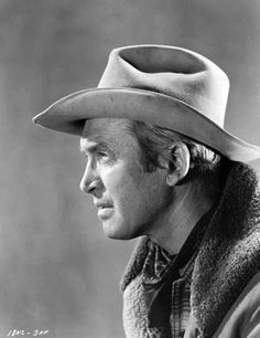 Jimmy Stewart, in the hat he wore in most of his westerns, especially those directed by Anthony Mann