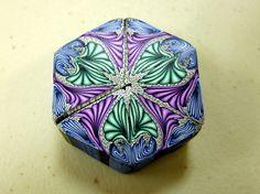 Philadelphia Area Polymer Clay Guild: kaleidoscope cane, maker not identified.