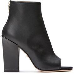 PEEP TOE BOOTIE (£460) ❤ liked on Polyvore featuring shoes, boots, ankle booties, peep toe boots, peep toe ankle boots, peep toe ankle bootie, short boots and peep toe bootie