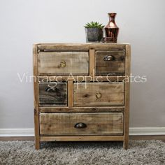 Vintage Chest of Drawers | 5 Drawer Chest | Vintage Apple Crates