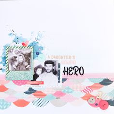 """This year I was a bit late with my father's day project and I was also late to film an episode for my """"Scrap it Like"""" YouTube series. So I kinda combined them in one and made this layout right in time to share it with you. So in this episode of """"Scrap it Like"""" I'm taking a look into @paigetaylorevans 's style and using one of her pattern paper techniques to create a fun background for my page. Although the color scheme is a bit deceiving the collection I used here is the one and only Fancy…"""