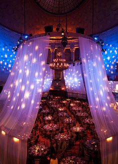 Guests dined on sumptuous South African cuisine underneath a sky of stars, which seemed to twinkle down from the ceiling.