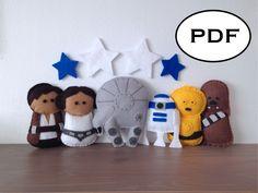 Star Wars Felt Pattern - PDF Pattern - Baby - Nursery - Mobile Instructions by FoxFluff on Etsy https://www.etsy.com/listing/268818135/star-wars-felt-pattern-pdf-pattern-baby