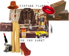 """Vintage Flare. Do you dare?"" by rhinestonesandrouge on Polyvore"
