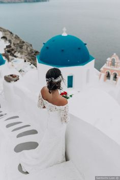 Real Weddings - Be inspired with real wedding photos of engaged couples. WeddingWire features real weddings in Greece Destination Wedding Inspiration, Destination Wedding Locations, Santorini Wedding, Greece Wedding, Wedding Couple Photos, Wedding Couples, Romantic Weddings, Real Weddings, Summer Wedding