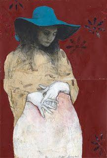 Paintings  in sketchbook  by Tifenn Python #figurative #portrait #art