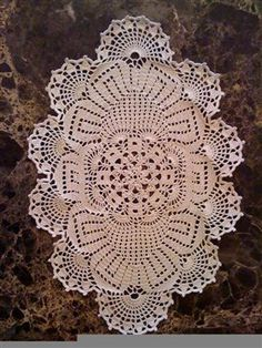 easy crochet doily patterns free | FREE OVAL DOILY PATTERNS TO CROCHET | Original Patterns