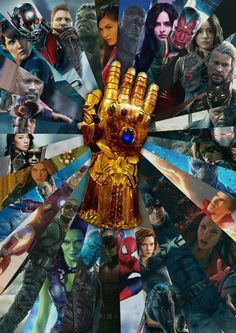 Fan made poster of the Infinity Gauntlet for the upcoming film Marvel's Avengers: Infinity War