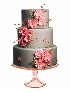 Cake Wrecks - Home gray and pink and gold! Creative Wedding Cakes, Cool Wedding Cakes, Beautiful Wedding Cakes, Creative Cakes, Beautiful Cakes, Amazing Cakes, Gold Wedding Colors, Pink And Gold Wedding, Camo Wedding