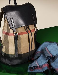 Weekend essentials in the iconic Burberry check for Spring/Summer 2013