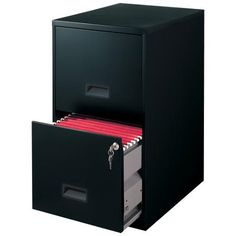 Filing Cabinet Steel File Cabinet with Lock, Black 2 Drawer File Cabinet, Mobile File Cabinet, Hanging Drawers, Locking Storage Cabinet, Home Furniture, Furniture Design, Black Furniture, Office Furniture