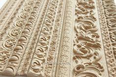 Погонаж с нанесением древесной пасты. Moldings with the application of the wooden paste. #декор #дизайн #пульпа #орнамент #молдинги #decor #design