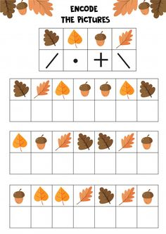Educational Worksheet For Kids. Encode The Pictures. Logic Game For Children.