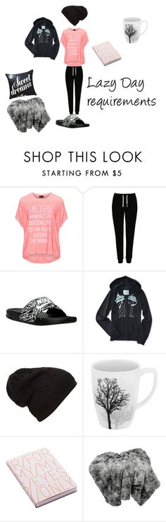 """""""Lazy Day"""" by the-red-raven on Polyvore featuring Replace, George, NIKE, Aéropostale, Corelle and Nuuna"""