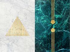 Marble-themed artwork by Simona Sacchi