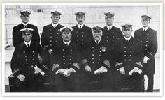 Rare Photos from the Inside of the Real Titanic RMS Titanic: The Crew This was a maiden voyage for the captain and his last before his retirement. Rms Titanic, Titanic Real, Titanic Today, Titanic Photos, Titanic Ship, Titanic History, James Cameron, Belfast, Foto Real