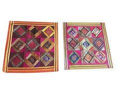 2-Colorful-Cushion-Cover-Patchwork-Vintage-Sari-Border-Silk-Square-Pillow-Cases    http://stores.ebay.com/mogulgallery/DECORATIVE-CUSHION-COVERS-/_i.html?_fsub=353416719&_sid=3781319&_trksid=p4634.c0.m322