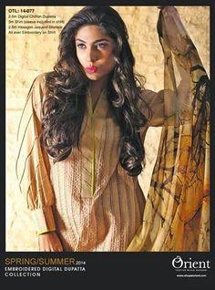 Orient Digital Dupatta Dresses Collection 2014 ~ Your Choice For Dress