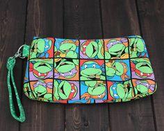 Ninja Turtles Wristlet Geek Girl Gift TMNT by TheAmberRoseEmporium