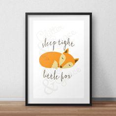 B2G1Free* Sleep Tight Little Fox *Digital Printable 5x7, 8x10
