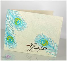 Peacock Feather card; simple but pretty
