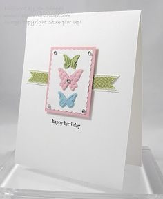 beautiful + simple butterfly card made with stampin' up supplies