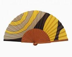 Abanico de seda pintado a mano - A46                              …