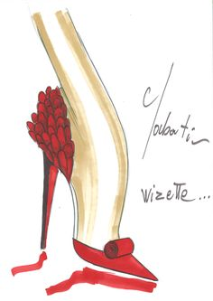 Christian Louboutin Ruby Slipper Sketch- be still my heart