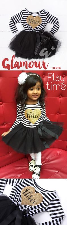 Everyone wants to look her best at her birthday party, even your three-year-old! Keep playtime cute with a Grace and Lucille tutu dress!