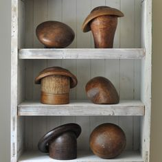 Antique Milliner's Hat Form Block Collection