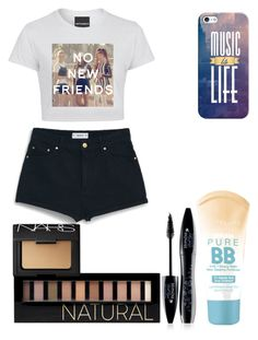 """""""No new friends :( lol"""" by jellybeans05 ❤ liked on Polyvore featuring beauty, MANGO, Maybelline, Forever 21, Lancôme, NARS Cosmetics and Casetify"""