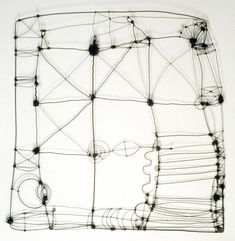 "Wire Drawing 1  (c) Barbara Gilhooly  annealed steel wire  24"" x 24"""