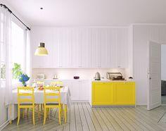 Retro home designs and colours are making a comeback Kitchen Upgrades, Cozy Kitchen, Retro Home, Kitchen Interior, Kitchen Design, House Plans, Dining Table, House Design, Interior Design