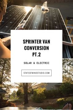 Sprinter Van Conversion DIY solar panels