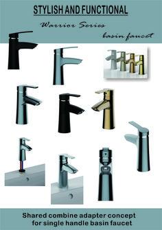 Shared combine adapter concept for single handle basin faucet Lavatory Faucet, Faucets, Basin, Handle, Concept, Stylish, Taps, Griffins, Door Knob